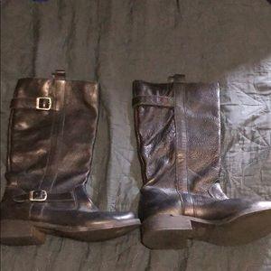 Mia leather calf high boots